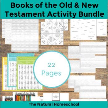 Books of the Bible Worksheets ~ Old & New Testament Printable Bundle
