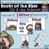 Books of the Bible activities, sequencing cards, bookmarks