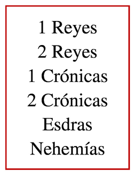 Books of the Bible in Spanish (Los Libros de la Biblia)