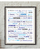 Books of the Bible print, Confirmation, Bible Verses, Scri