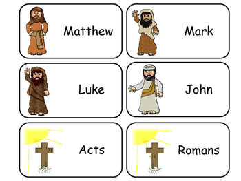 photograph about Books of the Bible Printable Cards identified as Textbooks of the Fresh Testomony Printable Flashcards. Preschool-Kindergarten Bible.