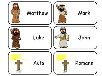 Books of the New Testament Printable Flashcards. Preschool