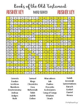Books of the Old Testament - Word Search