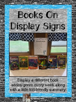Books on Display Signs