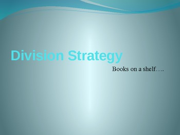 """Books on a Shelf"" - division strategy powerpoint"