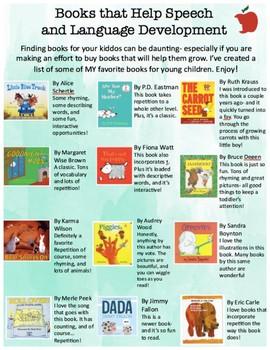 Books that encourage speech and language development