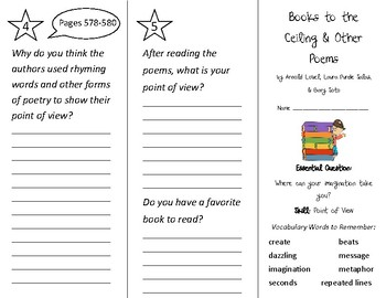 Books to the Ceiling Trifold - Wonders 2nd Grade Unit 6 Week 5