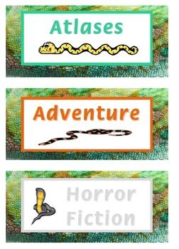 Bookshelf Labels - Snake Themed