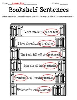 Bookshelf Sentences with Compound Words