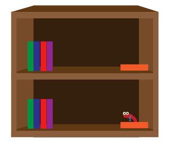 Bookshelves Clip Art