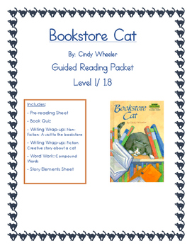 Bookstore Cat Guided Reading Packet