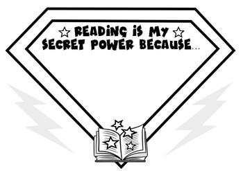 Bookweek Reading is my secret power writing activity