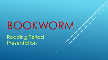 Bookworm Reading Period Prompt
