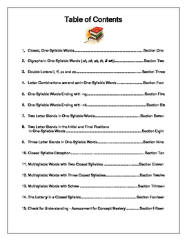 Bookworm Activities Closed Syllable - Book One