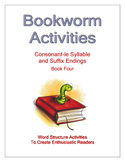 Bookworm Activities Consonant-le Syllable and Suffix Endings - Book Four