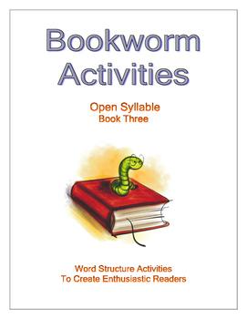 Bookworm Activities Open Syllable - Book Three
