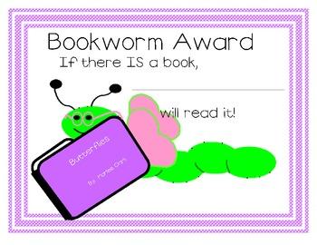 Bookworm Award for Girl