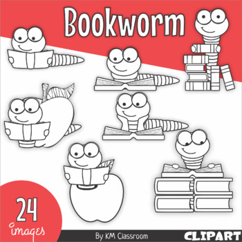 Bookworm Back to School ClipArt