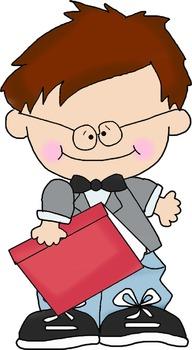 Bookworm Bob Single Clipart Single