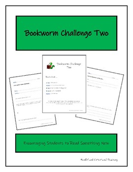 Bookworm Challenge Two - Reading Workshop - Independent Reading