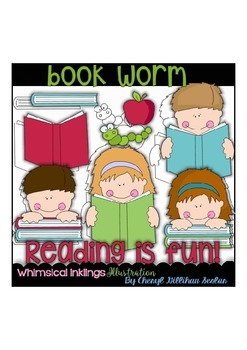 Bookworm Clipart Collection
