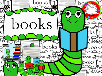Bookworm Clipart (Personal & Commercial Use)