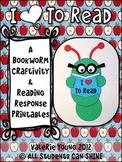 Bookworm Craftivity & Reading Response Printables