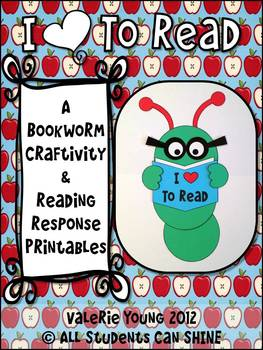 Bookworm Craftivity & Reading Response Printables