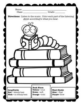 Bookworm Glyph Listening Activity