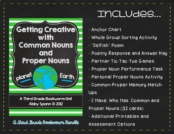 Bookworm Grammar Bundle: Nouns, Verbs and Adjectives