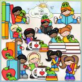 Bookworm Kids Clip Art - Reading Clip Art - Books Clip Art