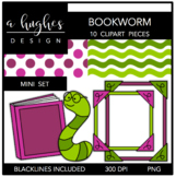 Bookworm Mini Clipart Set {A Hughes Design}