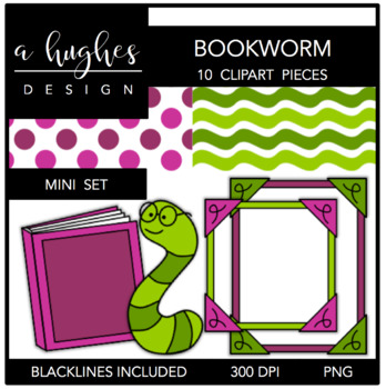 Bookworm Mini Set {Graphics for Commercial Use}