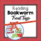 Bookworm Reading Treat Tags