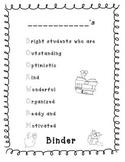 Bookworm Student Binder Cover