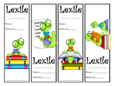 Bookworm Themed Lexile Bookmarks