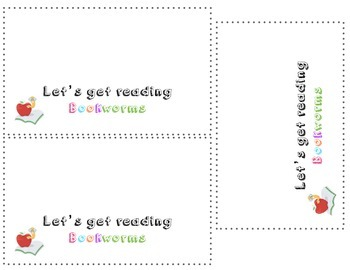 Bookworm Treat Bag Tag