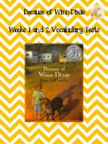 Bookworms Aligned Because of Winn-Dixie Vocabulary Tests