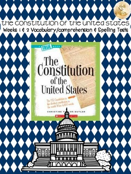 Bookworms Aligned Constitution of the United States Spelling & Vocabulary Tests