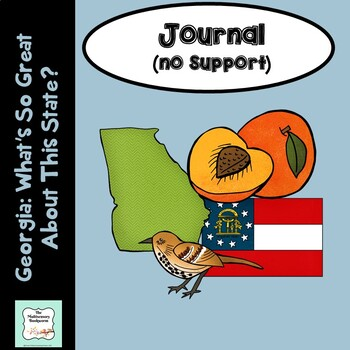 "Bookworms: ""Georgia: What's So Great About This State?"" Journal with lines"