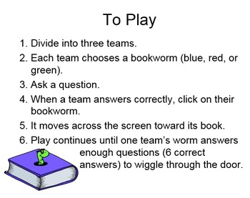 Bookworms (PowerPoint Game)