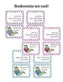 Bookworms are cool! - Labels for treat bags!