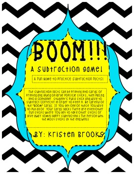 Boom! A subtraction game