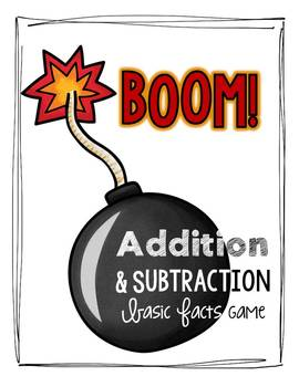 Boom!  Addition & Subtraction Game {Basic Facts within 20}