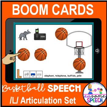 Boom Cards : Initial /L/ Sound Basketball