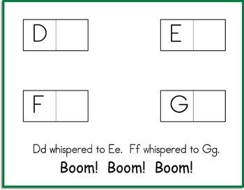 Boom Boom Boom  Alphabet Matching