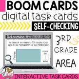 Boom Card Area Finding the Missing Side