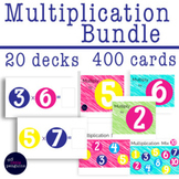Boom Card Bundle Multiplication Facts 20 decks (400 fact cards)