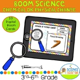 Boom Card Chemical or Physical Reactions Science Review Pack