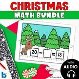 Boom Cards Christmas Math Bundle First Grade